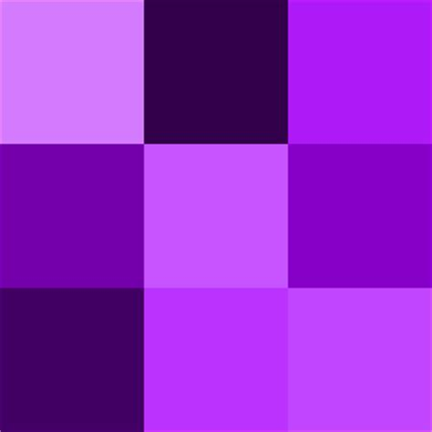 different color purples different shades of purple chart