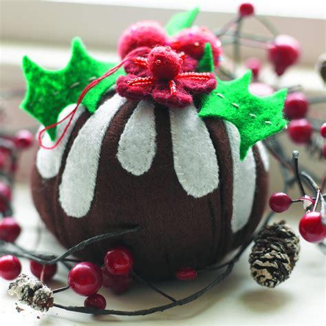 handmade christmas pudding tree decorations