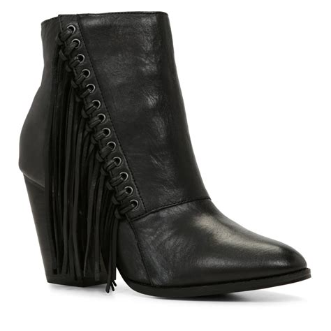 aldo linsey almond toe ankle boot in black lyst
