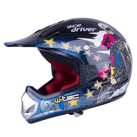 junior motocross helmets junior motorcycle helmet w tec v310 insportline