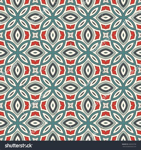 pattern with motif ethnic style seamless pattern floral motif stock vector