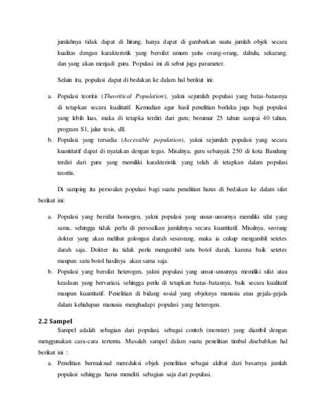Metode Penelitian Pendidikan Mahmud Pustaka Setia makalah metlit populasi dan sempel