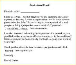 writing a professional email template sle professional email professional email template
