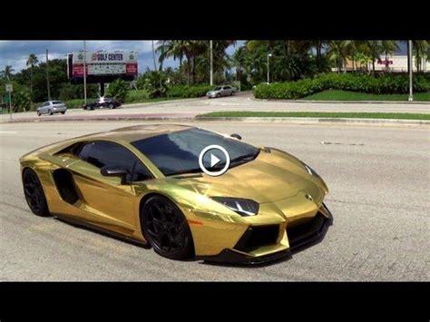 Gold Plated Lamborghini Aventador Price Gold Plated Lamborghini Aventador Lp700 4 Revs Drive In Miami