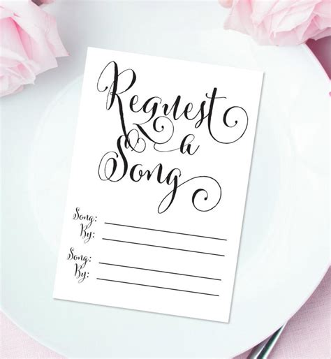 Wedding Card On Song by Invitation Request A Song Cards 2584967 Weddbook