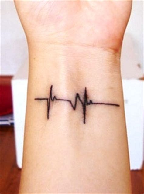 heart beat rate tattoo heartbeat line tattoo designs tattoo ideas pinterest