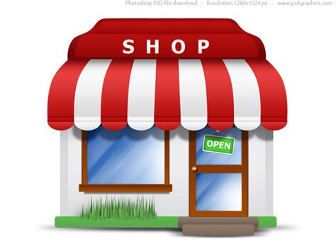 Awning Mart Small Store Icon Psd Psdgraphics