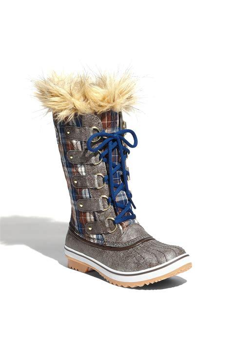 sorel tofino boot sorel tofino boot in blue bracken estate blue lyst