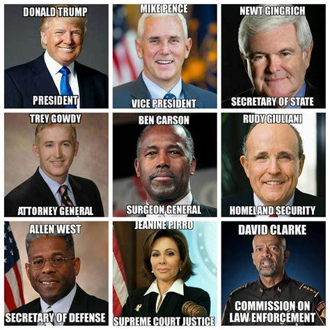 cabinet of donald trump trend news america possible cabinet of president donald trump