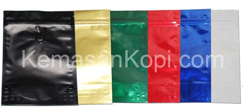 Kemasan Kopi Valve Stand Up Pouch Green Foil 2000grcoffee Bag stand up pouch aluminium foil stand up pouch jpw packaging supplier kemasan kopi dan