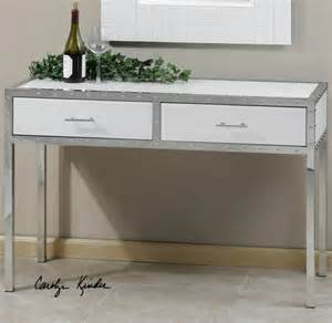 Storage Console Table Rivet Modern White Console Table With Storage Zin Home