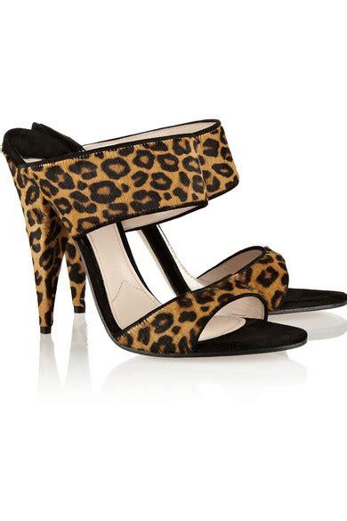miu miu leopard print calf hair mules net a porter