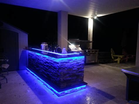 Led Lights In The Kitchen Outdoor Kitchens With Led Lighting 36 Photos Premier Outdoor Living Design