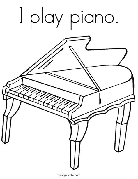 i play piano coloring page twisty noodle
