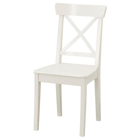 White Wood Dining Chairs Ingolf Chair White Ikea