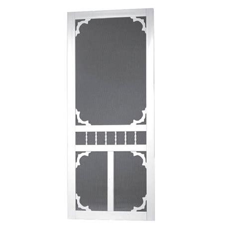 36 X 80 Vinyl Screen Door by Screen Tight 36 In X 80 In Carolina Solid Vinyl White