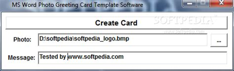 ms word business card template software ms word photo greeting card template software 7 0