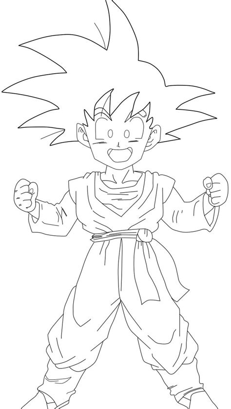 dragon ball z gotenks coloring pages goten lineart by barbicanboy on deviantart