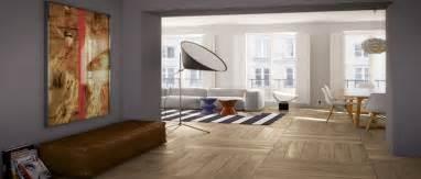carrelage imitation parquet sol dans salon design
