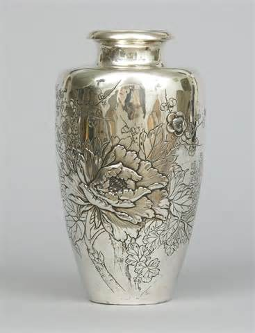 silver vase tree peonies in japanese art crickethillgarden