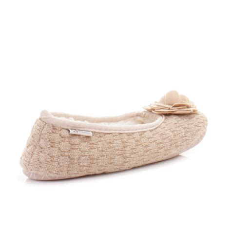 bed slippers womens bedroom athletics charlize natural fleece knit