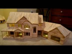 Popsicle Stick House Floor Plans building popsicle stick mansion behind the scenes raw