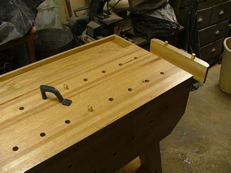 bench dog holes workbench how do bench dogs work woodworking stack exchange