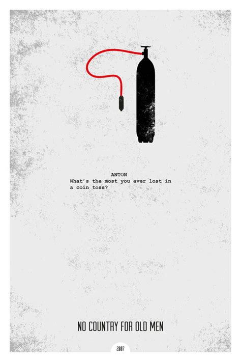 Grunge Minimalist Posters Illustrating Famous Movie Quotes