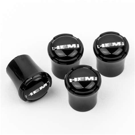 hemi logo black tire valve caps