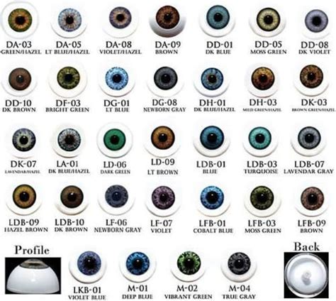 all possible eye colors acrylic like doll 22mm half must read