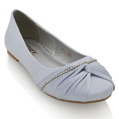 cheap flat silver shoes for wedding womens diamante chain wedding bridal flat ivory
