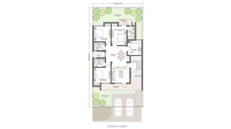 Duplex Floor Plans espace premiere villas in gurgaon unitech group
