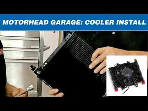 b m cooler with fan motorhead garage installs a b m transmission cooler