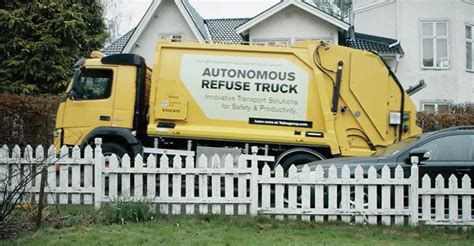 volvo testing  driving garbage truck waste