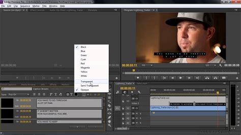 adobe premiere pro subtitles adobe premiere pro cc tutorial importing or adding