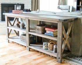 Diy Console Table Plans White Rustic X End Table Diy Projects
