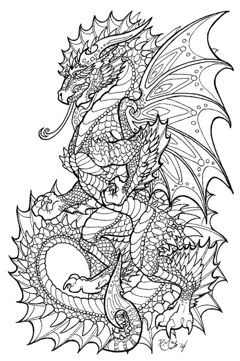 dragon coloring pages for adults pdf onyx herald lineart by rachaelm5 deviantart coloring