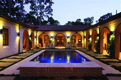 spanish style house plans with interior courtyard harmonious spanish style house plans with interior