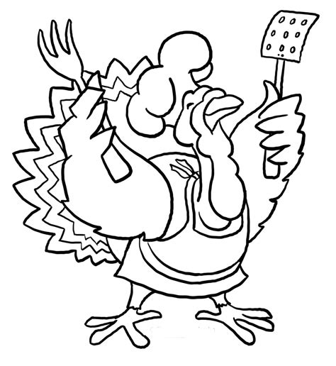 funny thanksgiving turkey coloring pages cartoon