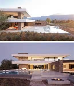 Glass House Plans desert panorama house modern shelter modern architecture