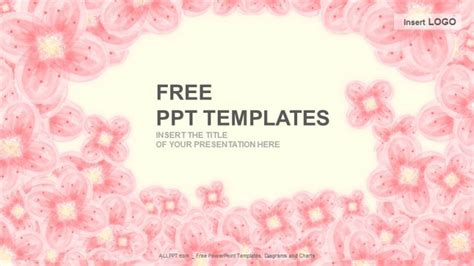 template ppt pink free pink floral abstract ppt templates download free