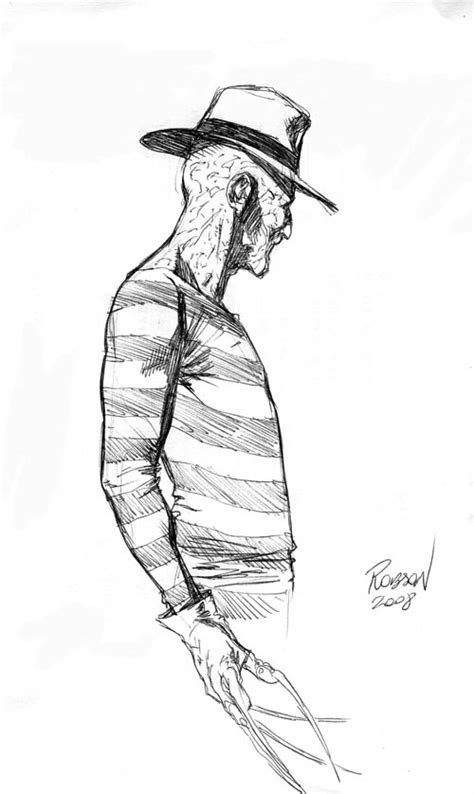 F Robson Sketches by Freddy Krueger By Robsonrocha On Deviantart