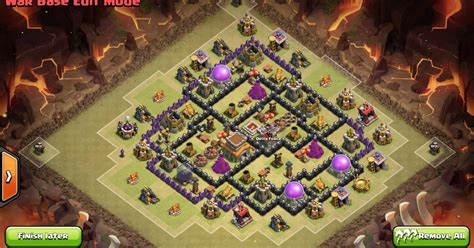 layout coc war base anti naga gambar strategi coc th 7 gambarrrrrrr