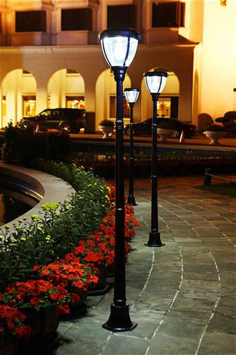 Solar Powered Outdoor Pole Lights Solar Powered L Post Garden Lights Outdoor L Post Id