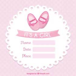 free baby templates pink baby shower card template vector premium