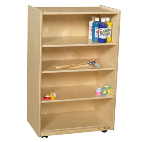 wood designs wd990333 mobile bookshelf storage w 4