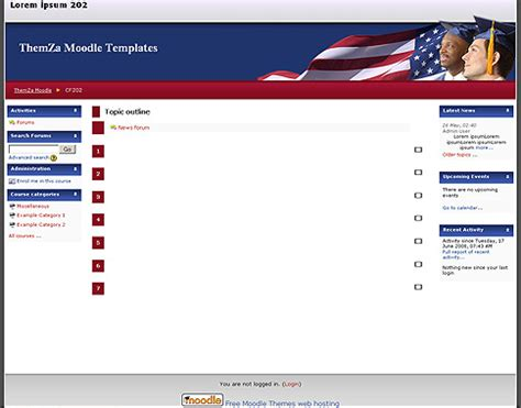 moodle themes for education free moodle themes american education by themza