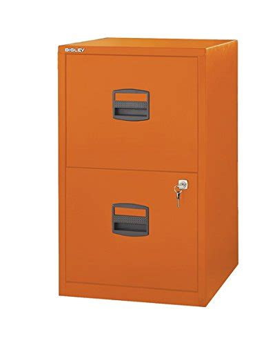 Orange Filing Cabinet Bisley Two Drawer Steel Home Filing Cabinet Orange File2 Or Buy In Ksa Office