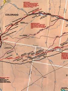 santa fe trail colorado springs map santa fe national historic trail the sights and of