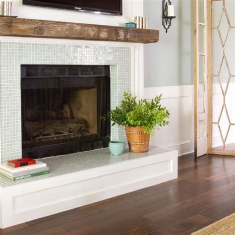 White Glass Tile Fireplace by The World S Catalog Of Ideas